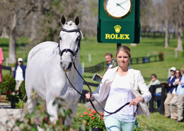 Caitlin Silliman and Catch A Star at Rolex. Photo by Jenni Autry.