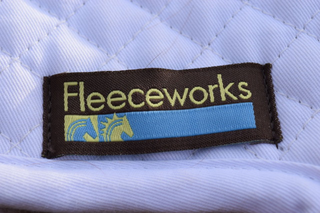 Fleeceworks logo on Therawool Modifed Jumping Square Pad