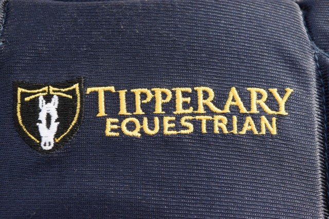 Tipperary Equestrian logo appearing between shoulders on back of Eventer Pro 3015