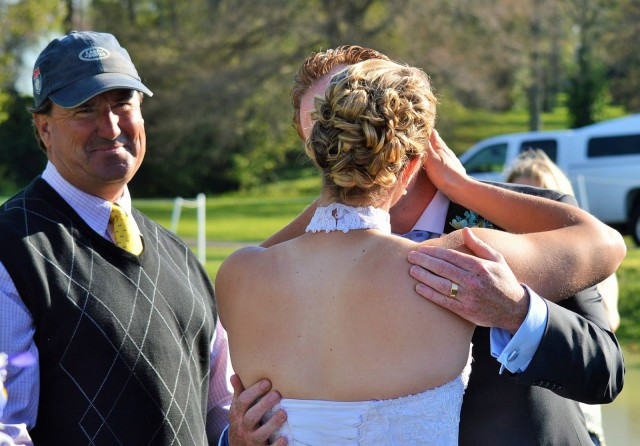 You may now kiss the bride! Photo by Sally Spickard.