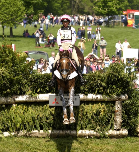 Lucinda Fredericks and Headley Britannia at Badminton in 2007. Photo used with permission from Kit Houghton.