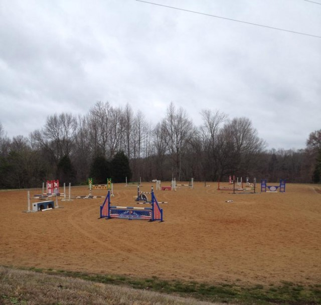 The jump ring at Meadow Run Farm. Photo by Jana Lyle.