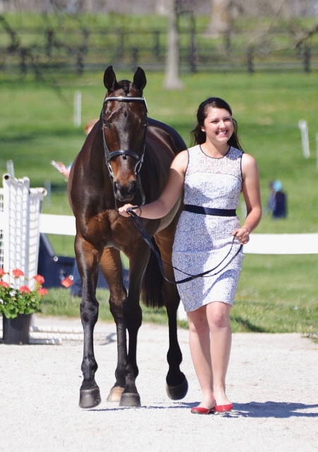 Libby and Sir Rockstar at the first horse inspection. Photo by Jenni Autry.