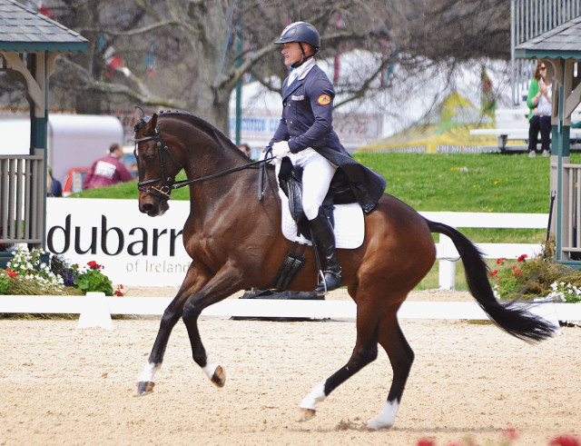 Michael Pollard and Mensa, an OTTB who won over $92,000. Photo by Jenni Autry.