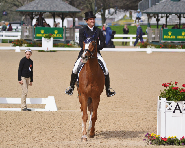 Phillip Dutton and Mr. Medicott at Rolex. Photo by Jenni Autry.