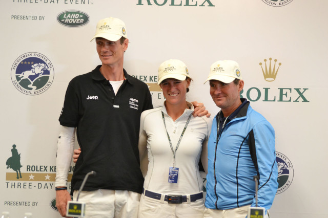 Your top three going in to the final day: William Fox-Pitt, Lauren Kieffer and Phillip Dutton. Photo by Jenni Autry.
