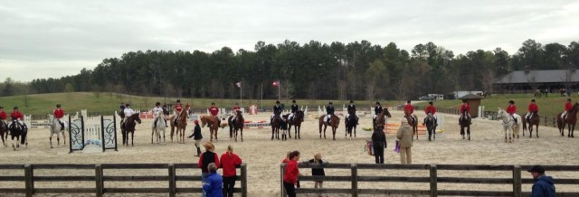 Collegiate award ceremony. Photo from the UGA Eventing Team.