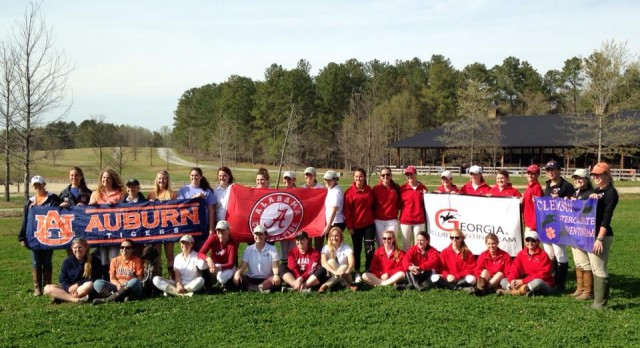 School spirit on display at Chatt Hills. Photo from the UGA Eventing Team.