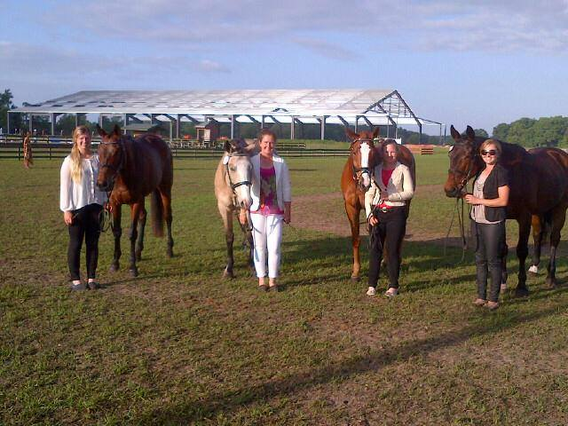 Phoenix Equestrian riders all set for the CCI2* jog. Photo via the Phoenix Equestrian Team Facebook page.