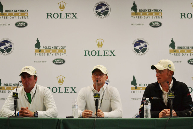 Will Faudree, Michael Pollard and Doug Payne at the Thursday Rolex Press Conference. Photo by Jenni Autry.