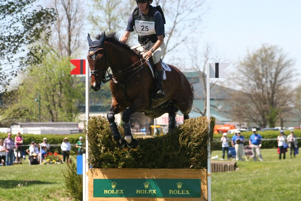 James Alliston and Parker SLIGHTLY overjumping the brush. Photo by Gretchen Pelham.