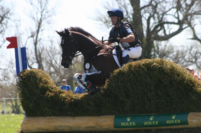 Michael Pollard and Mensa, the top placed OTTB finisher. Photo by Gretchen Pelham.