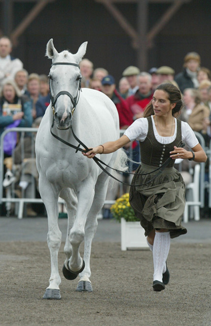 Margit Appelt and Ice on Fire at Punchestown in 2008. Photo by Julia Rau.
