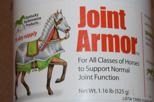 Front Label on Kentucky Performance Products container of Joint Armor