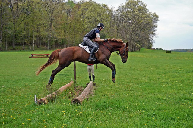 Ingvill Ramberg and Johnny's Private Collection jumping BN at the Jonathan Holling clinic. Photo by Anne Helle Bjørnødegård.