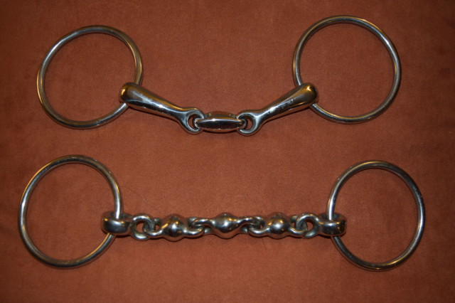 Gina Miles Loose Ring Double Break Snaffle (Top) and Loose Ring Waterford (Bottom)