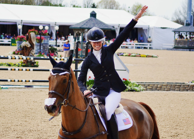Sinead Halpin and Manoir de Carneville at Rolex. Photo by Jenni Autry.