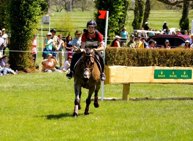 Rachel McDonough and Irish Rhythm gallop away