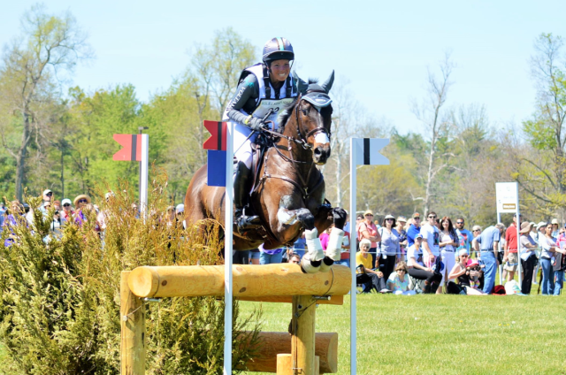 Meghan O'Donoghue and Pirate at Rolex. Photo by Sally Spickard.