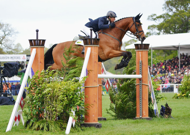 Sam Griffiths and Paulank Brockagh at Badminton. Photo by Jenni Autry.