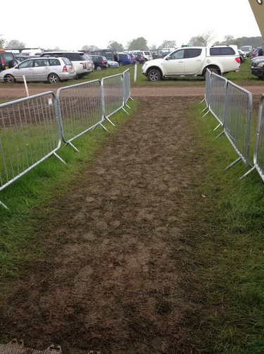 We're in for a muddy day at Badminton. Photo via @RevolutionSport Twitter.