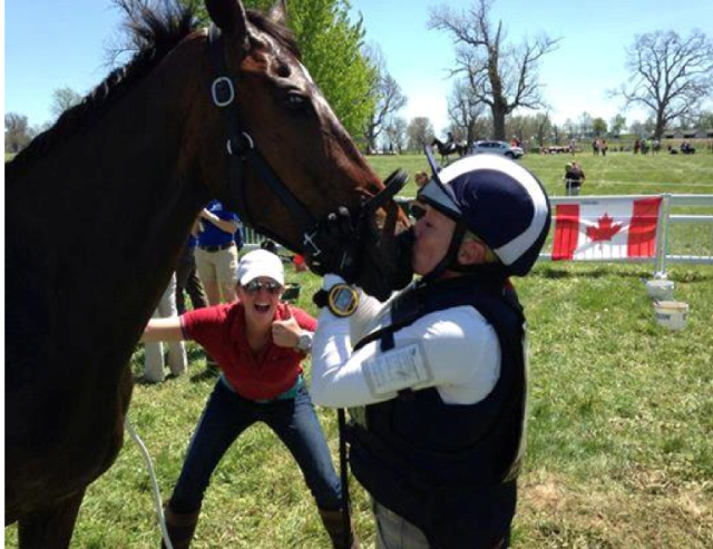 Sara celebrates while Hawley gives Ginny a big smooch. Photo courtesy of Gamal Awad.