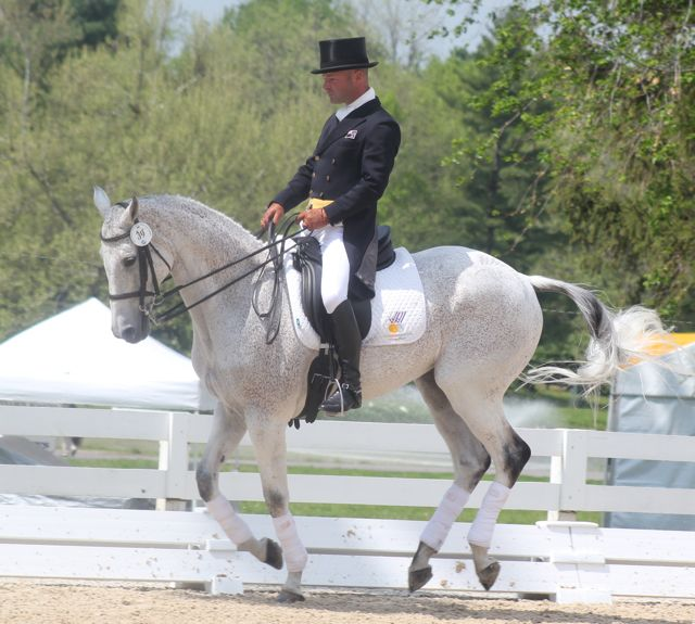 Joe Meyer and Snip at Rolex in 2011. Photo by Samantha Clark.