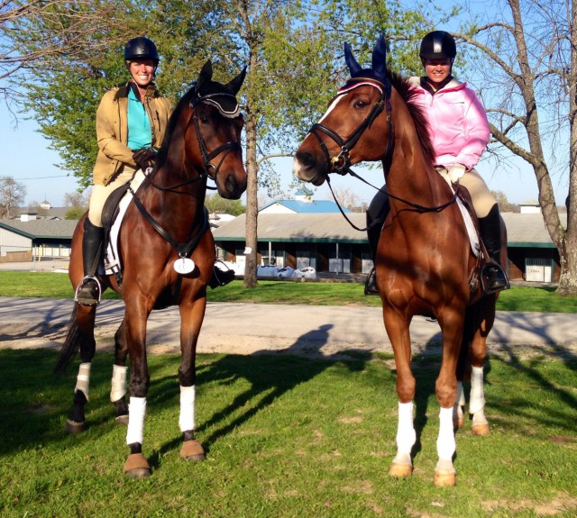 Ellen Doughty-Hume and Julie Norman hacking around KHP. Photo by Brooke Schafer.