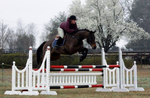 Kelly and Owen schooling in Aiken. Photo by Le Tilghman.
