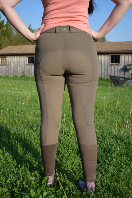 Ovation Slim Secret Breeches, from the back
