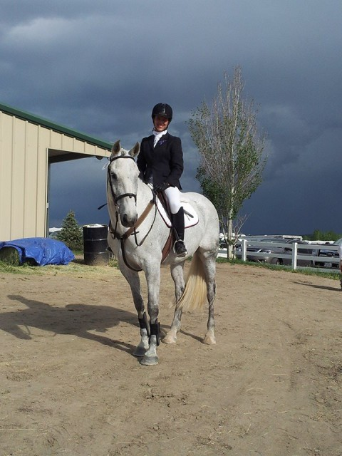 Hannah and Dia at their second competition together at Colorado Horse Park. Photo by Sheri Gurske.