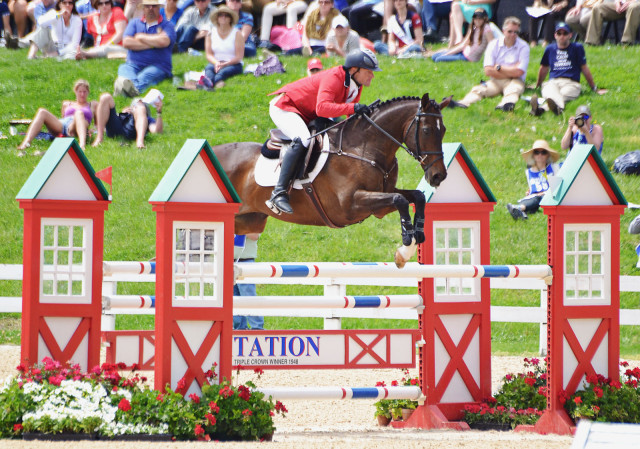 Michael Pollard  and Mensa at Rolex 2014. Photo by Jenni Autry.