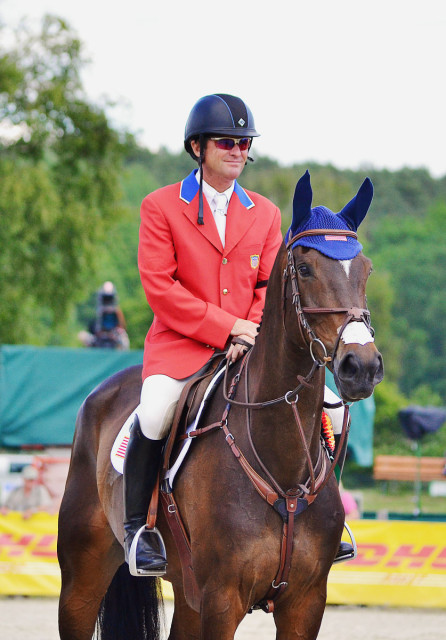 Phillip Dutton and Mighty Nice at Luhmühlen. Photo by Jenni Autry.