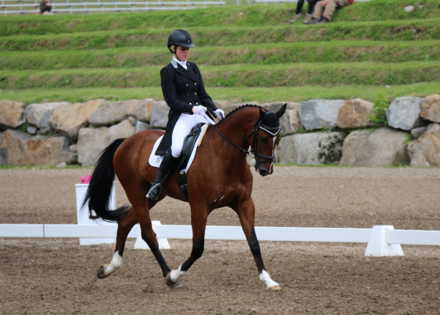 Mackenna Shea and Landioso lead the Bromont CCI3* division at the lunchbreak. Photo by Leslie Wylie.