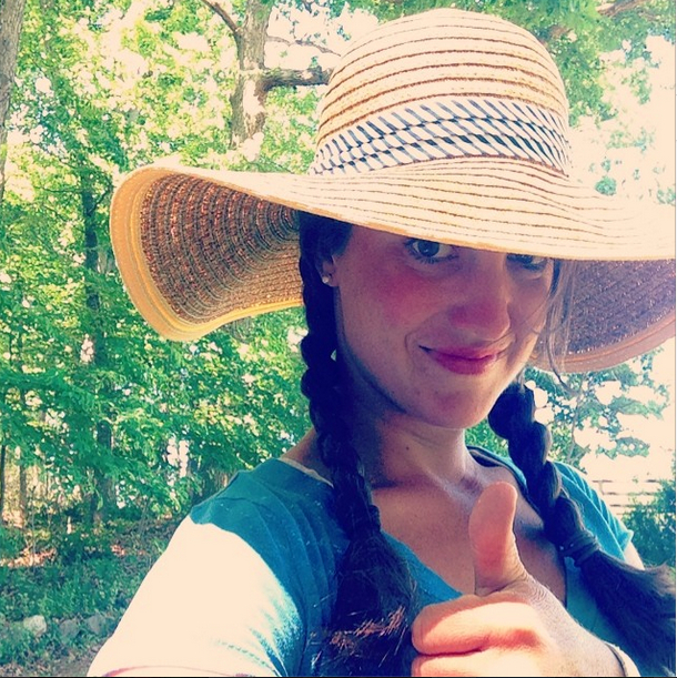 Go ahead: be jealous of my awesome sun hat.