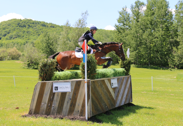 Jimmie Schramm and Bellamy at Bromont. Photo by Leslie Wylie.