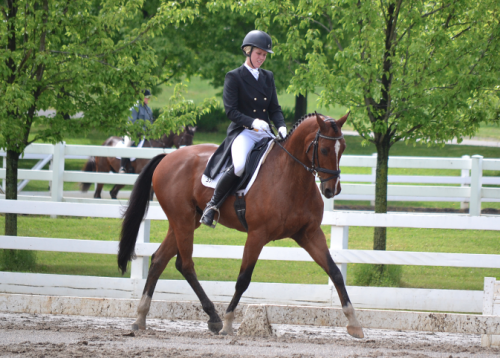 Mackenna and Landioso at Jersey Fresh in 2013, where they took the lead on a 46.7. Photo by Jenni Autry.
