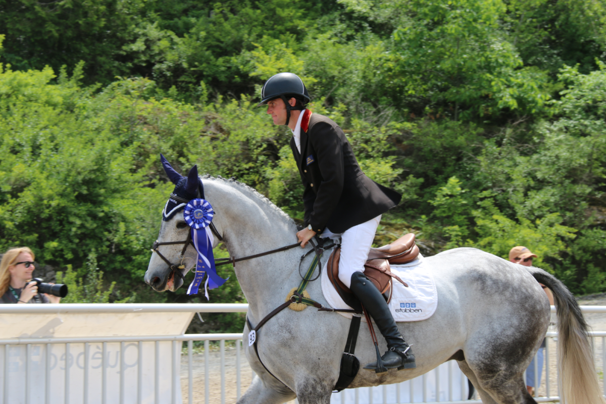 Ryan Wood and Woodstock Wallaby, 2nd place in the Bromont CCI1*. Photo by Leslie Wylie.