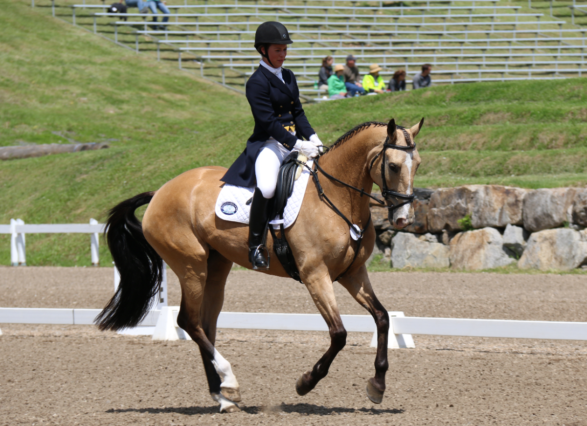 Callie Evans and Glenening Avis, tied for 3rd in the 2* at Bromont. Photo by Leslie Wylie.