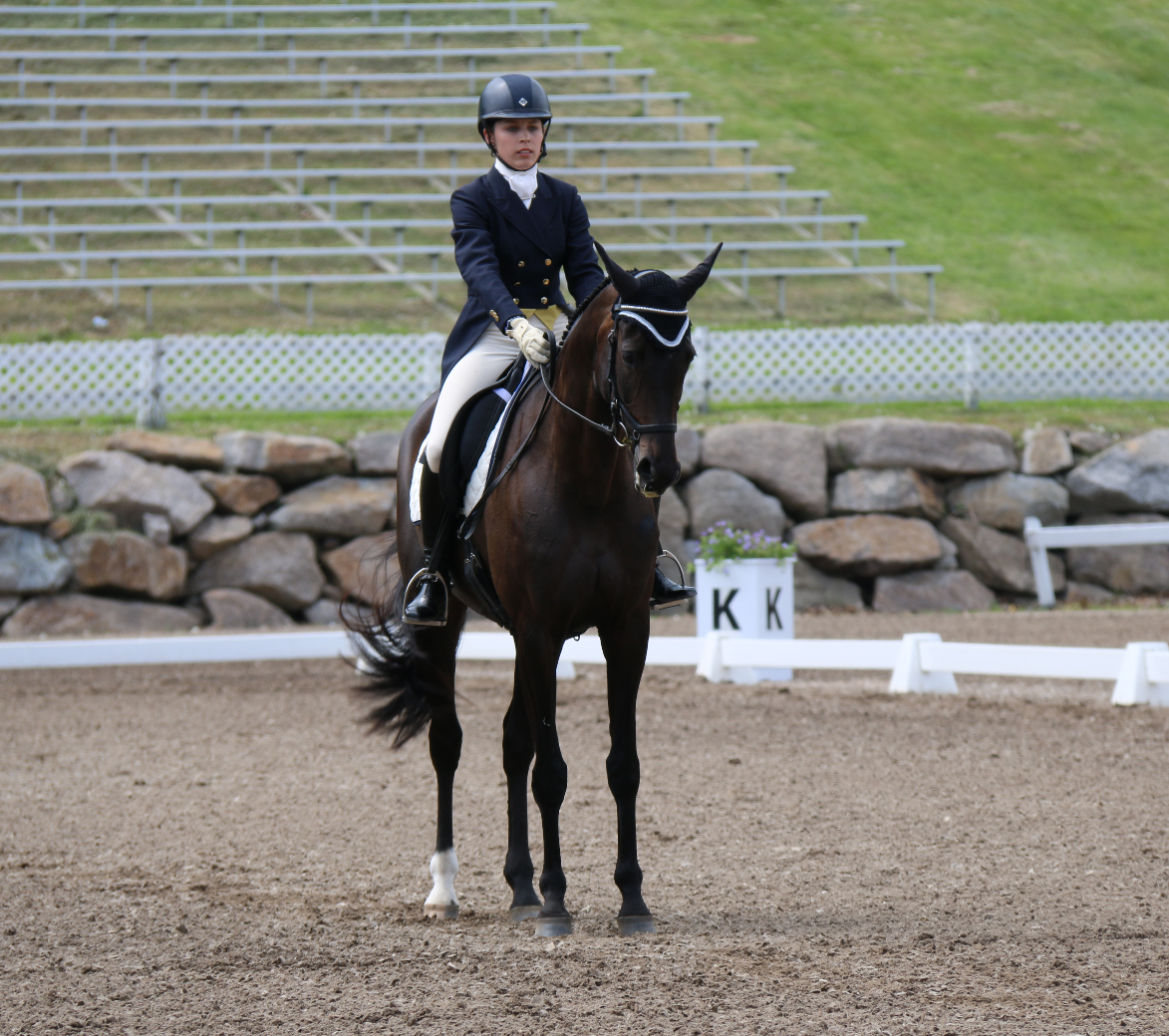 Lucia Strini and Sammy Jo, tied for 3rd in the 2* at Bromont. Photo by Leslie Wylie.