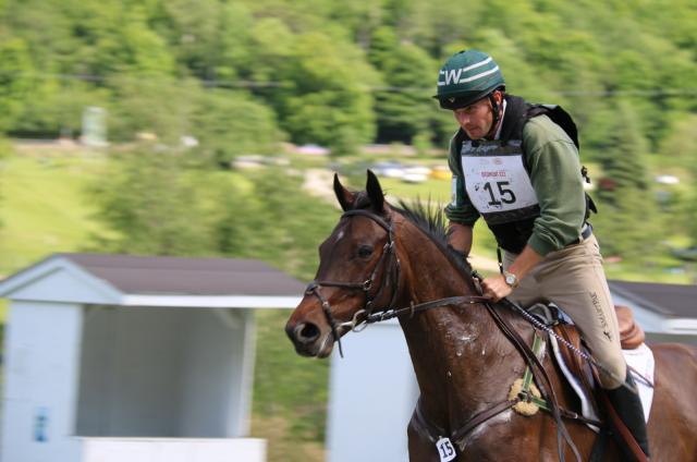 Ryan Wood and Fernhill Classic at the Bromont CCI2*, where they finished 5th. Photo by Leslie Wylie.