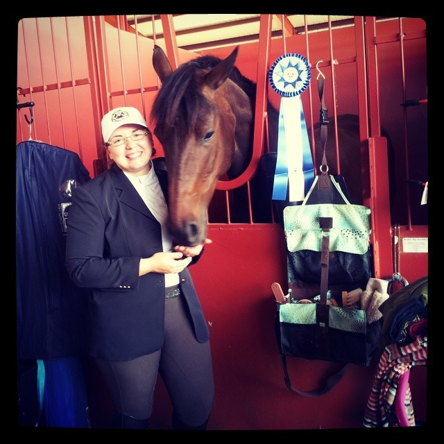 Congratulations, Lexie Baldwin and Sonata! Photo courtesy of Lexie's Facebook page