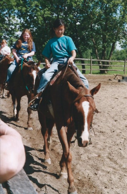 Going commando at my first summer horse camp, 1997. Photo by Jackie Metelak
