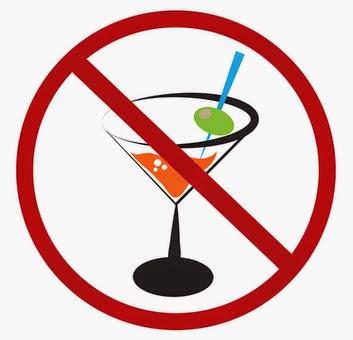 BE no alcohol sign DP