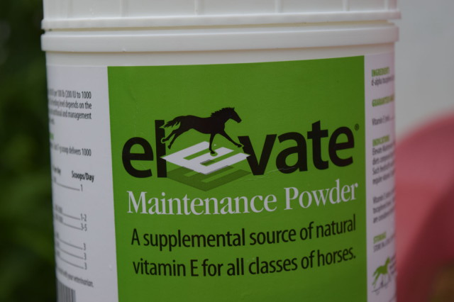 Front Label on Elevate Maintenance Powder by Kentucky Performance Products - Photo by Lorraine Peachey