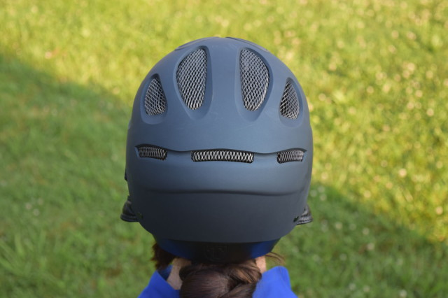 The Tipperary T-Series helmet features an extended drop in the rear - I feel like it makes the helmet fit more securely on my own head - Photo by Lorraine Peachey