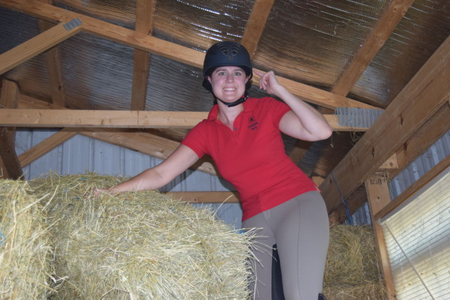 When I climb up onto the stack in the hay barn...#mindyourmelon - Photo by Lorraine Peachey