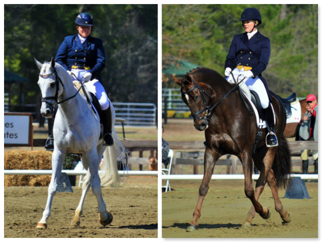 A dressage knockout between two Eventing dressage queens! Photos by Sally Spickard.