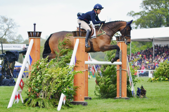 Pippa Funnell and Billy Beware at Badminton 2014. Photo by Jenni Autry.