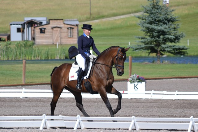 Hawley Bennett-Awad and Gin & Juice lead the CIC3* after dressage. Photo by Chesna Klimek.